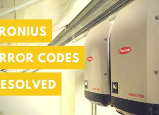 Fronius ERROR Codes Solved with Solar Review