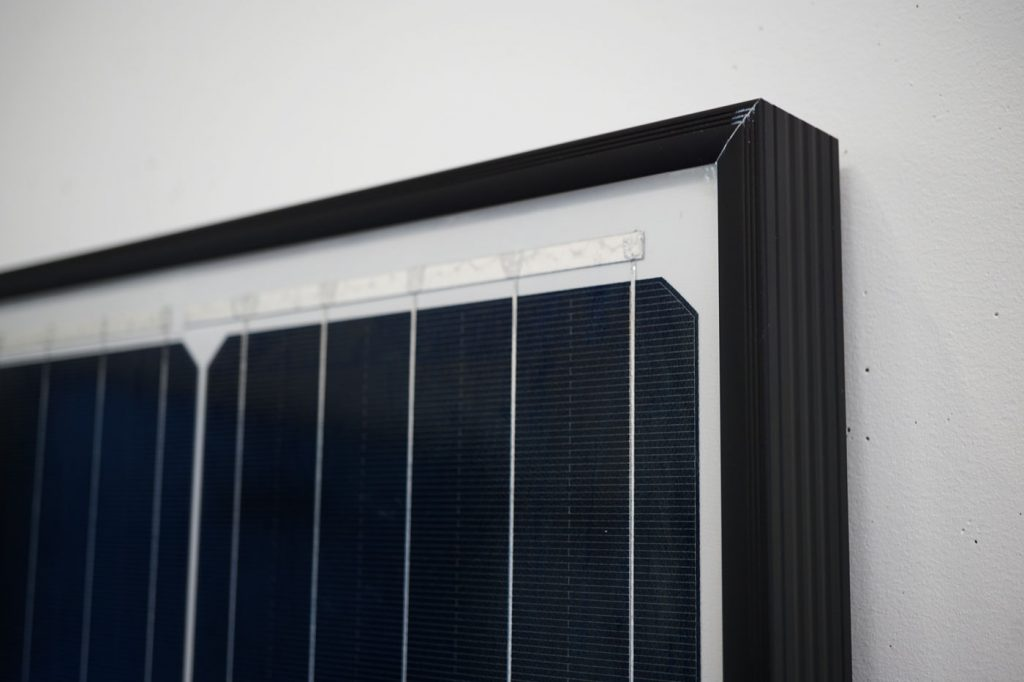 Trina Solar Module Top Corner - Solar Review