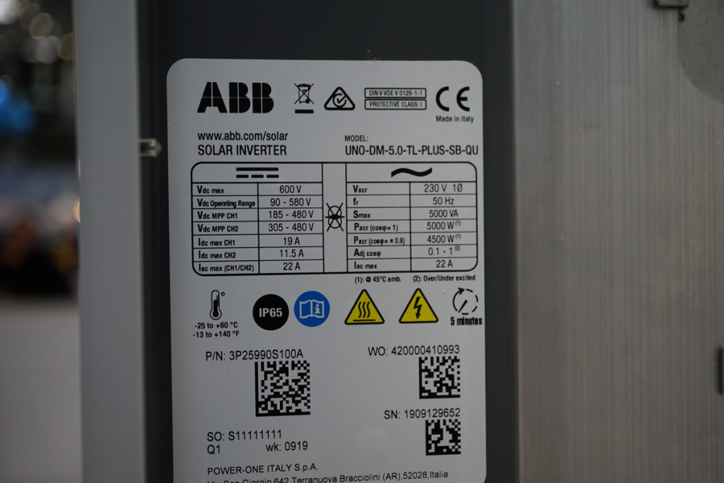 ABB UNO-DM PLUS Inverter Image